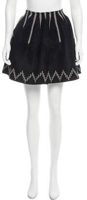 Alaia Velour Wool-Blend Skirt
