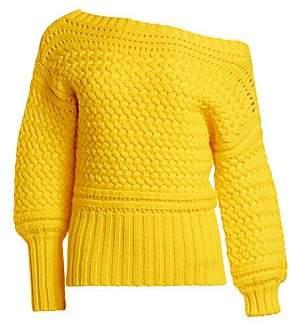 Tanya Taylor Women's Marie Off-Shoulder Wool Sweater