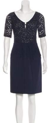 J. Mendel Short Sleeve Knee-Length Dress Short Sleeve Knee-Length Dress