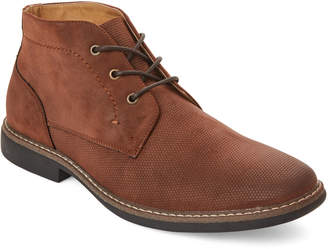 Kenneth Cole Reaction Brown Design 20525 Embossed Chukka Boots