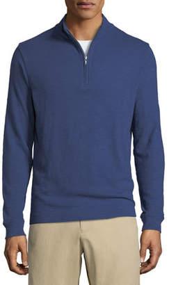 Peter Millar Men's Garment-Dyed Half-Zip Sweater