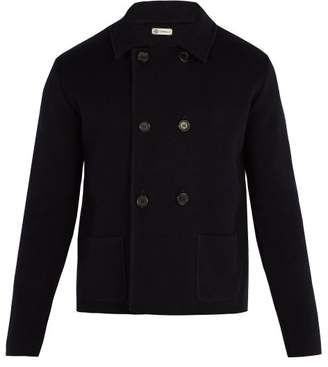 Connolly - Double Breasted Knitted Blazer - Mens - Navy