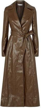REJINA PYO Faux Leather Trench Coat