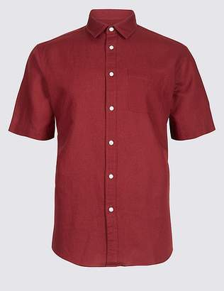 Marks and Spencer Linen Rich Shirt with Pocket