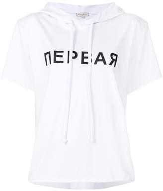 Natasha Zinko hooded slogan T-shirt