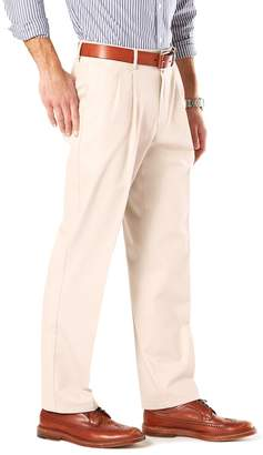 Dockers Big & Tall Stretch Signature Khaki D3 Classic-Fit Pleated Pants