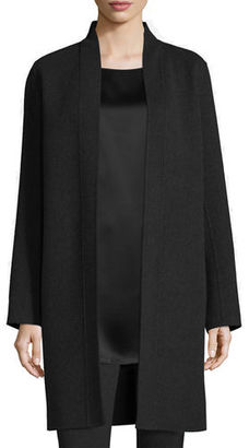 Eileen Fisher Brushed Wool Double-Face Coat $448 thestylecure.com