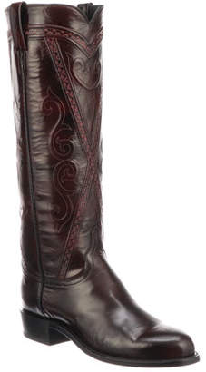 3ae9490c3ba Lucchese Distressed Leather Women's Boots - ShopStyle
