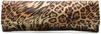 Giuseppe Zanotti leopard-print satin clutch