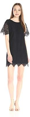 Juicy Couture Black Label Women's Sw Menara Lace Short Sleeve Dress $288 thestylecure.com