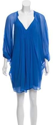 Diane von Furstenberg Silk Sheer Mini Dress