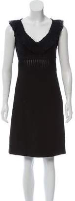 Prada Chiffon Trim Dress