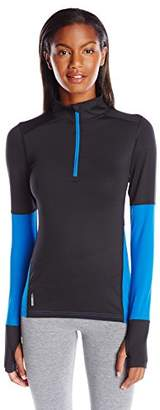 Duofold Women's Light Weight Thermatrix Performance Thermal Quarter Zip Pullover