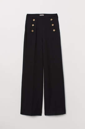 H&M Wide trousers - Black