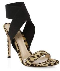 Gianvito Rossi Calf Hair Crisscross Ankle-Strap Sandals