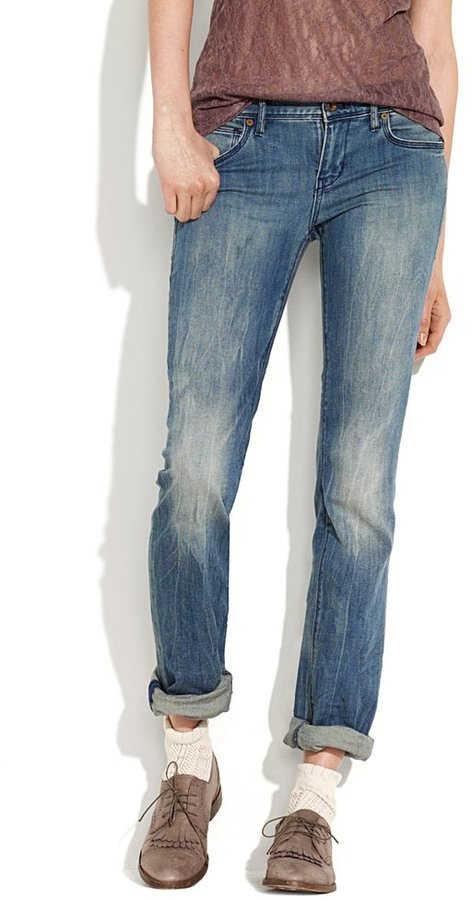 Rail straight jeans in falcon wash