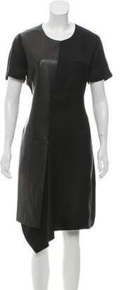 Reed Krakoff Leather-Accented Midi Dress