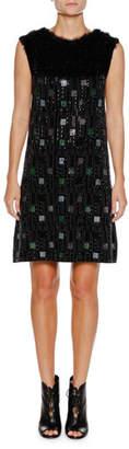 Emporio Armani Sleeveless Embellished A-Line Mini Cocktail Dress