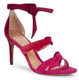 Alexandre Birman Lolita Suede Tie Strap High-Heel Sandals