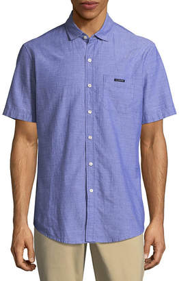 U.S. Polo Assn. USPA Short Sleeve Dobby Oxford Button-Front Shirt