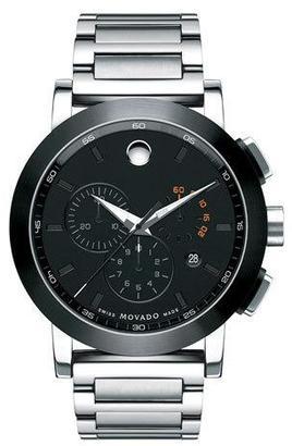 Movado 44mm Museum Sport Chronograph Watch, Silver/Black $1,295 thestylecure.com
