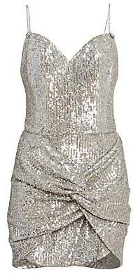 Magda Butrym Women's Knotted Sequin Cocktail Dress