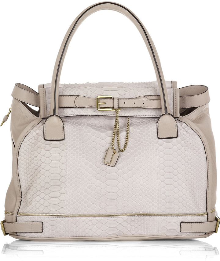 Chloé Marlow large python and leather bag