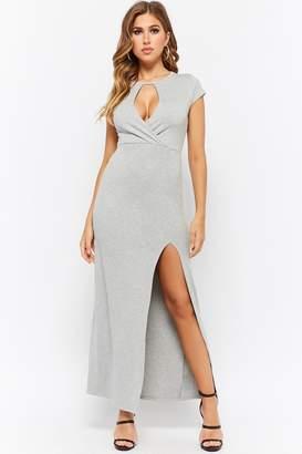 Forever 21 Cutout Surplice Maxi Dress