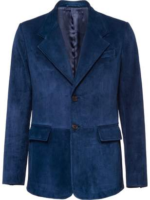 Prada single-breasted suede jacket