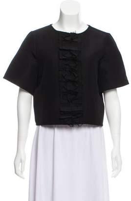 J.W.Anderson Silk-Blend Short Sleeve Top