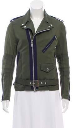 Sacai Linen-Blend Belted Jacket