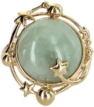 One Kings Lane Vintage Celestial Moon & Star Jade Cocktail Ring
