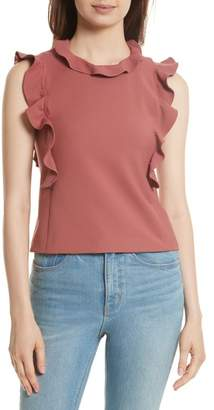Rebecca Taylor Ruffle Suit Tank Top