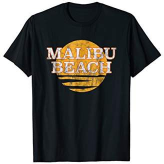 Malibu Beach Hawaii Retro Vintage Beach Gift T-Shirt