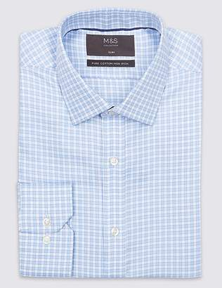 Marks and Spencer Pure Cotton Non-Iron Slim Fit Shirt