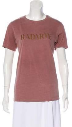 Rodarte Distressed Graphic Print T-Shirt