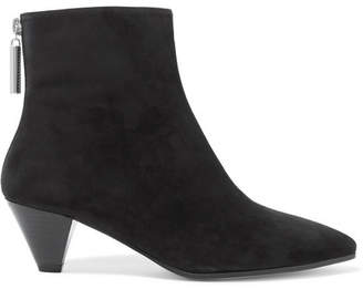 Stuart Weitzman Pyramid Suede Ankle Boots - Black