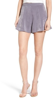 Women's Astr The Label High Waist Satin Shorts