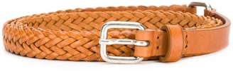 Jean Paul Gaultier Knott thin intrecciato buckle belt