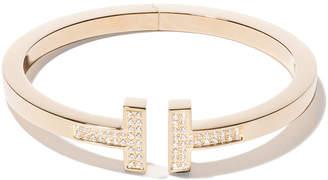 Tiffany & Co. & Co 18kt yellow gold T square diamond cuff