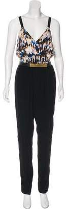Twelfth Street By Cynthia Vincent Belted High-Rise Jumpsuit