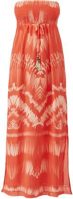 Heidi Klein Printed Bandeau Maxi Dress