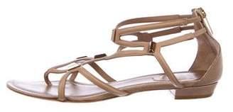 Rene Caovilla Leather Caged Sandals