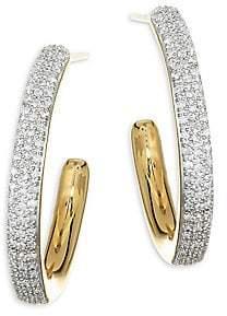 Monica Vinader Women's Fiji Large Gold Hoop Earrings