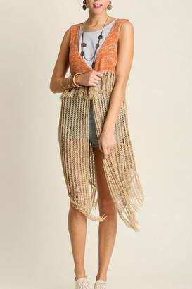 Umgee USA Sleeveless Crochet Vest