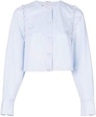 Thom Browne Bridal Button University Stripe Poplin