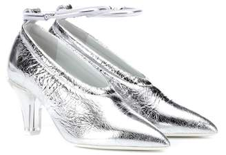 Jil Sander Metallic leather pumps