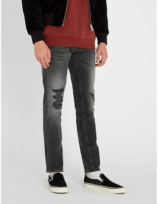 The Kooples Distressed slim-fit straight jeans