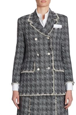 Thom Browne Double Breasted Jacket $3,600 thestylecure.com