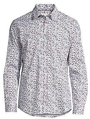 Bugatti Men's Floral Print Button-Down Shirt
